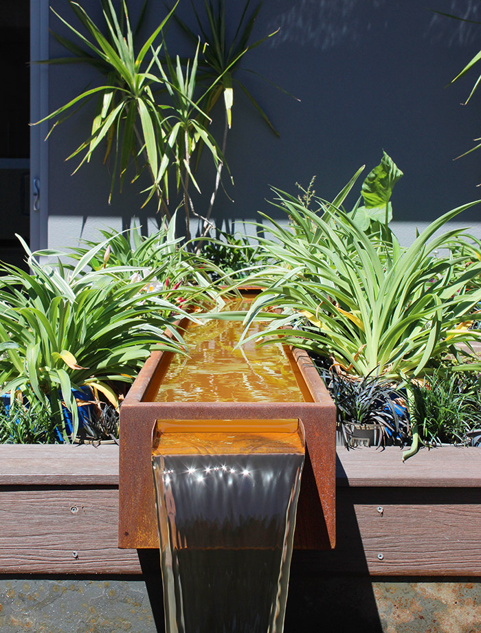 residential landscaping design peelscape mandurah water feature
